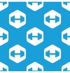 Barbell hexagon pattern vector image