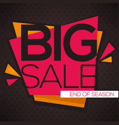 big sale flyer template with lettering vector image vector image