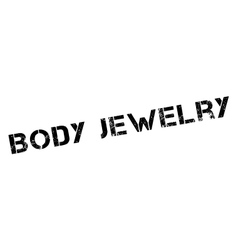 Body jewelry rubber stamp vector