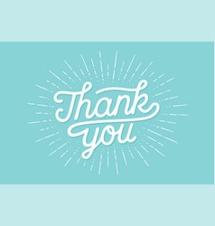 Hand lettering thank you vector