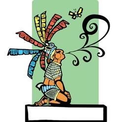 Mayan Storyteller vector image