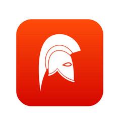 roman helmet icon digital red vector image vector image