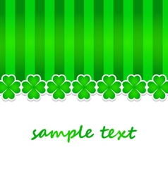 saint patrick day background with green clovers vector image