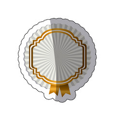 sticker radial background with heraldic border and vector image