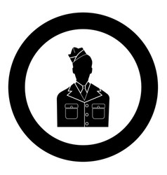 veteran or soldier of the american army black vector image