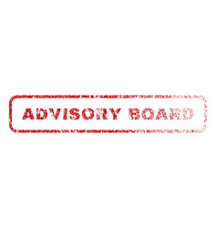advisory board rubber stamp vector image