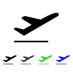 Airplane departure flat icon vector