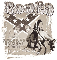 American original sport rodeo vector