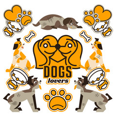 And logo on the topic of dogs vector