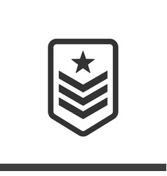 army badge icon vector image