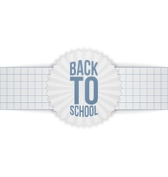 Back to School greeting Banner on paper Ribbon vector image