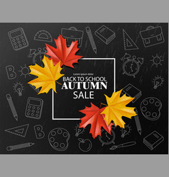back to school sale poster autumn fall vector image