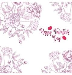 Background bouquet flow 4 vector image