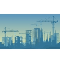 Banner of buildings under vector image