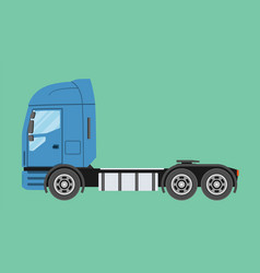 big commercial semi truck trailer truck in flat vector image