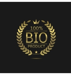 Bio product label vector