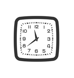 Black and white wall clock isolated on white vector