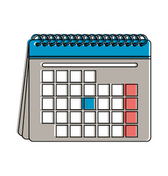 blank calendar icon image vector image