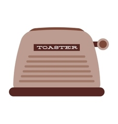 Bread toaster isolated icon design vector