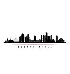 Buenos aires skyline horizontal banner vector