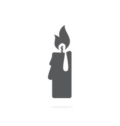 candle icon on white background vector image