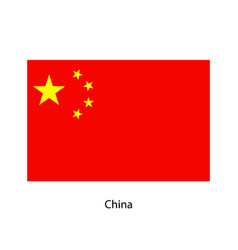 China flag official colors and proportion vector