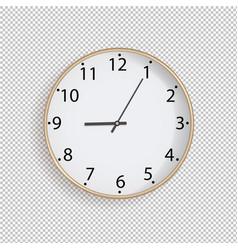 clock on transparent background vector image