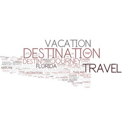 destination word cloud concept vector image