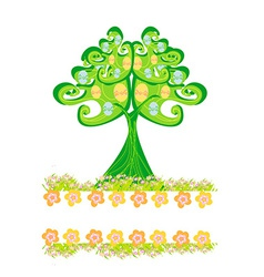 Easter tree frame vector image