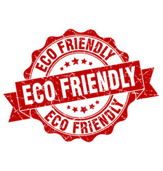 eco friendly stamp sign seal vector image