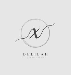 elegant initial letter type x logo vector image