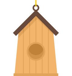 Farm bird house icon flat isolated vector