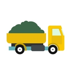 Farmer truck icon vector