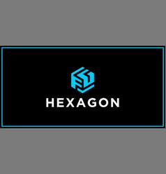 fg hexagon logo design inspiration vector image