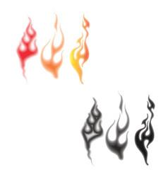 Flames and smoke vector