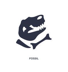Fossil icon on white background simple element vector