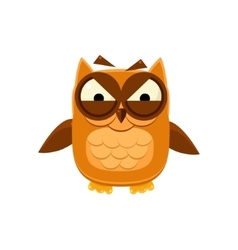 Furious Brown Owl vector image