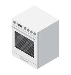 gas burner icon isometric style vector image