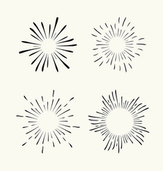 geometric radial line sunburst sun or stars vector image