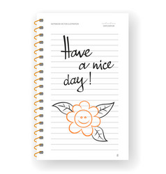 Have a nice day word on note paper vector