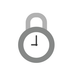 icon concept of closed clock padlock vector image
