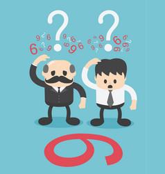 Idea is split between 2 businessmen who vector