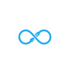 Infinity food logo icon design vector