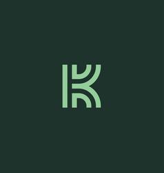 Initial letter k symbol logo design vector