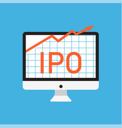 Initial public offering concept vector