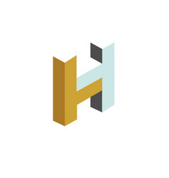 letter h construction logo vector image