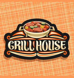 Logo for grill house vector