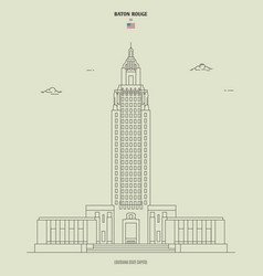 Louisiana state capitol in baton rouge usa vector