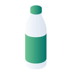 milk bottle icon isometric style vector image