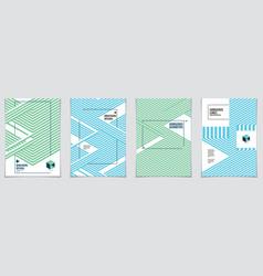 Minimalistic cover brochure designs geometric vector